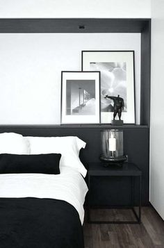 33 Chic and stylish bedrooms dressed in black and white