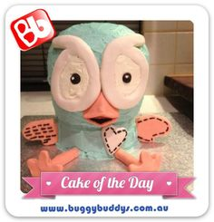 Hoot Birthday Cake. For kids party ideas in Perth, WA see the Buggybuddys website http://www.buggybuddys.com.au/kids_party_perth.html