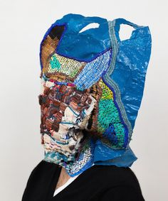 Josh Blackwell - handmade craft embroidery on a plastic bag
