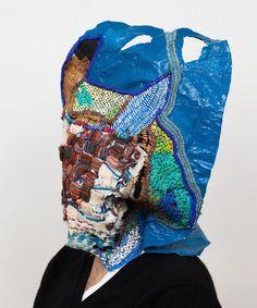 Josh Blackwell  - handmade craft embroidery on a plastic bag