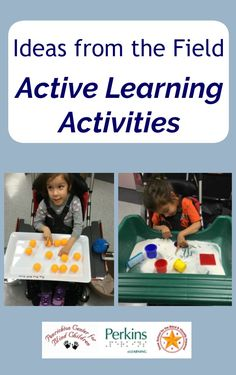 these Active Learning activity ideas from the field Visually Impaired Activities, Tactile Activities, Work Activities, Speech Therapy Activities, Educational Activities, Classroom Activities, Activity Ideas, Classroom Ideas, Multiple Disabilities