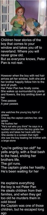 Holy sh*t! Never looking at Peter Pan ever again.