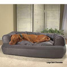 Personalized Bone Dog Pillow Dog Big Dog Beds And Dog Beds - Overstuffed luxury sofa dog bed