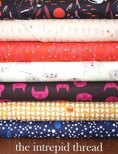 Love Lizzy House's designs!   Catnap Lazy Bones Giveaway with The Intrepid Thread! by maureencracknell, via Flickr