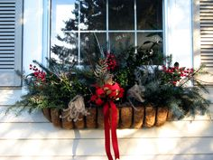 christmas window boxes | Share