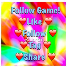 ❤️Gain More Followers ❤️  Let's help each other out and gain more followers!  Like this post , follow everyone that liked it before you, comment and tag more people to do the same❤️, then share so more people can join in on the fun game!  Other