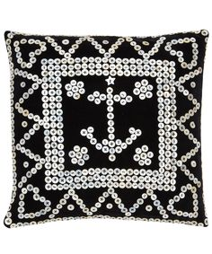 Black Pearly Anchor Cushion, RE-foundobjects. Shop more from RE-foundobjects collection online at Liberty.co.uk