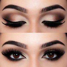 19 Best Eyeshadow Makeup Ideas For Brown Eyes - Ellis 19 besten Lidschatten-Make-up-Ideen für braune Augen – Ellise M. 19 best eyeshadow makeup ideas for brown eyes - Vintage Makeup, 1920 Makeup, Contour Makeup, Beauty Makeup, Makeup Eyeshadow, Eyeshadow Ideas, Eyeshadow Palette, Makeup Eyebrows, Gel Eyeliner