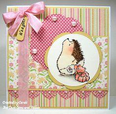 DCWV Nana's Nursery Baby Girl Stack Card
