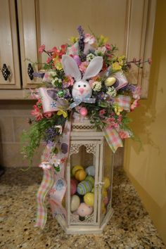 Easter Bunny Lantern Swag by kristenscreations on Etsy https://www.etsy.com/listing/270174815/easter-bunny-lantern-swag
