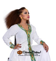 Munit habesha dress handmade Ethiopian traditional dress.  [checklist style='arrow']   Made to order  Processing time 2-4 weeks  Handwoven fabric  Hand embroidered  Includes netela/shawl  Measurement required  [/checklist]