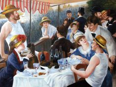 Renoir - Luncheon of the Boating Party. Hand painted oil painting reproductions available at overstockArt.com #art