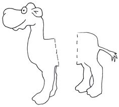 camel pattern parts | Great Camel Lesson Plan Ideas for Pre-K Educators - USE THIS GUY FOR ENVELOPE CAMEL!