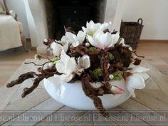 Bloemstukken met zijden bloemen - Elisense landelijk wonen