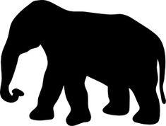 Contour Elephant clip art - vector clip art online, royalty free & public domain