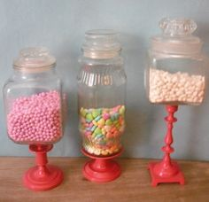 i like the pedestal idea for candy bar