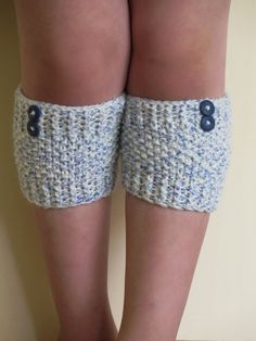 Short Knit Boot Cuffs Short Leg Warmers. Knitted by EmofoFashion