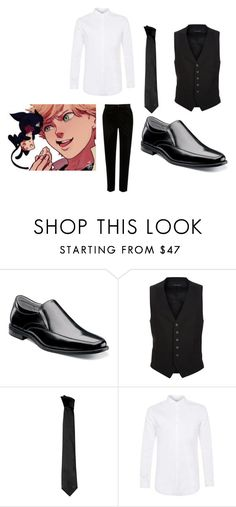 """Miraculous Ladybug"" by elisempowell on Polyvore featuring Florsheim, Tom Ford, Versace, Topman, River Island, men's fashion and menswear"
