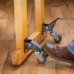 Maneuver your heavy work bench with ease using our Workbench Caster Set!