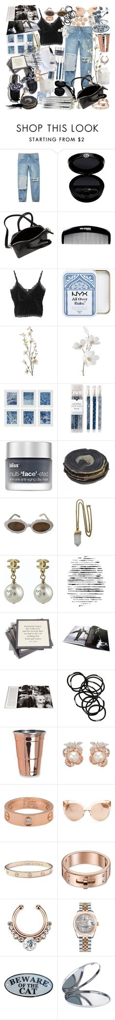"""""""aleah"""" by spxxx ❤ liked on Polyvore featuring Forever 21, Giorgio Armani, Givenchy, shu uemura, Pier 1 Imports, Williams-Sonoma, Chronicle Books, Bliss, Moschino and Lacey Ryan"""