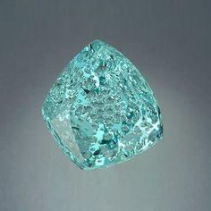 """Sea Dream"", AGTA award-winning 106.84 ct freeform  aquamarine cut by the fabulous John Dyer."