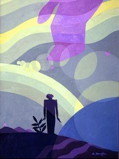 "Aaron Douglas, ""The Creation""-Harlem Renaissance, Art Deco African American Artist, American Artists, African Art, American Women, Native American, Harlem Renaissance Artists, Renaissance Era, Renaissance Paintings, Art Et Architecture"