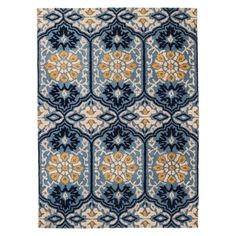 Threshold� Mosaic Tile Area Rug - Blue