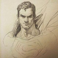 Superman sketch by Dave Rapoza