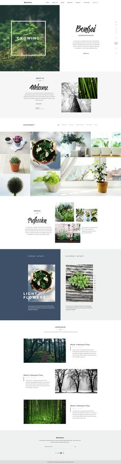 BONSAI is a landscape & lawn PSD template for outdoor/interior designer, landscaper, gardener and other related services. Its designed based on real experience of professional landscapers we have w...
