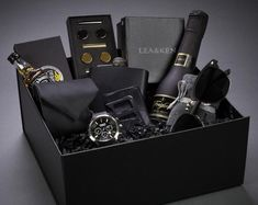 Check out our luxury gift box selection for the very best in unique or custom, handmade pieces from our shops. Cute Boyfriend Gifts, Birthday Gifts For Boyfriend, Anniversary Gifts For Him, Birthday Gifts For Men, Mens Bday Gifts, Boyfriend Gift Basket, Second Anniversary, Anniversary Ideas, Wedding Anniversary