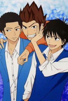 Ryu Sanada, Pin, and Shota Kazehaya Kimi Ni Todoke, Shojo Manga, Shoujo, Manga Anime, Manga Art, Anime Art, All Anime, Anime Love, Me Me Me Anime