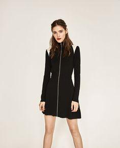 HIGH NECK ZIPPED DRESS-DRESSES-WOMAN   ZARA United States