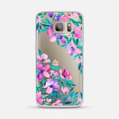 Midsummer Floral 2 -  protective Samsung Galaxy S7 / S7 edge phone case by Micklyn Le Feuvre | Floral print never get out of style! >>> https://www.casetify.com/product/midsummer-floral-2---translucent/samsung-galaxy-s7/classic-snap-case#/841 | @casetify