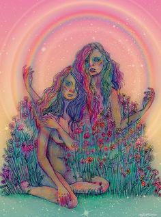 """Winsome"" by aspartamee Arte Dope, Dope Art, Psychedelic Art, Trippy, Illustrations, Illustration Art, Arte Indie, Psy Art, Hippie Art"
