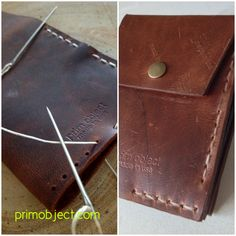Before & After Look | Prim Object Leather Craft designs and produces handmade minimalist leather wallets for men and women. Made in USA.