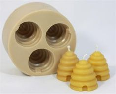 Rubber Candle Mold: Bee hive votive (set of 3)