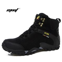 9f6c53d0bc8c Men Ankle Boots Suede Leather Warm Winter Boots Outdoor Men Snow Boots  Fashion Climbing men Winter Shoes-in Snow Boots from Shoes on  Aliexpress.com ...
