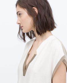Image 5 of TWO-TONE TUNIC from Zara