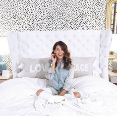 You might know Jillian Harris from The Bachelor or The Bachelorette, but we know her and love her as the host of HGTV's Love It or List It Vancouver (also Closet Bedroom, Bedroom Decor, Bedroom Ideas, Cross Wallpaper, Jillian Harris, Crosses Decor, Shopping Day, Interior Design Inspiration, Design Ideas