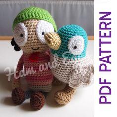 Amigurumi crochet Sarah and duck patterns.  https://www.etsy.com/listing/192778226/pdf-amigurumi-crochet-pattern-sarah-and