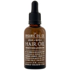 The Organic Oil Co. Argan & Marula Hair Oil Strengthening & Nourishing
