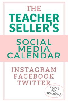 Increase traffic to your Teachers Pay Teachers store today! Complete social media plan to increase your sales, traffic, and brand awareness to sell more of your education products to a fellow teacher. Make more money selling on Etsy or TpT. Daily prompts to engage your audience and SELL MORE! Instantly download this social media calendar just for teacher entrepreneurs and edupreneurs. #howtomakemoneyontpt #earnmoreontpt #increasetptprofits #howtosellontpt #teacherentrepreneur #tptsellertips Survival Kit For Teachers, New Teachers, Teacher Survival, Teacher Boards, Teacher Tools, Article On Teachers Day, Social Media Calendar Template, Instagram Plan, Teacher Helper