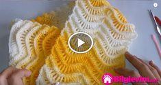 Knitting Videos, Knitting Stitches, Crochet For Kids, Diy Crochet, Crochet Designs, Crochet Patterns, Tunisian Crochet, Bargello, Fingerless Gloves