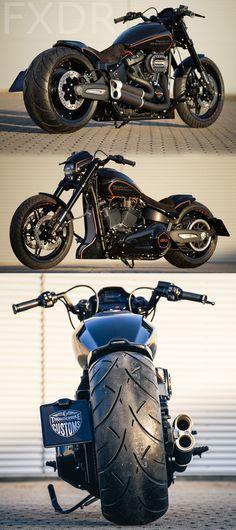 First customized Harley-Davidson Softail FXDR 114 by Thunderbike. #custom #motorcycle