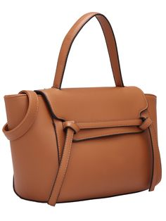 Bolso con cinta PU -marrón 23.38