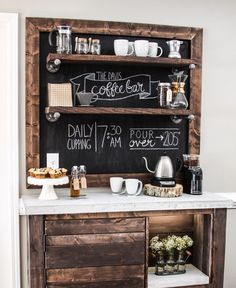 Rustic Coffee Station - The Tale of an Ugly House