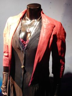 Scarlet Witch red leather jacket Avengers: Age of Ultron