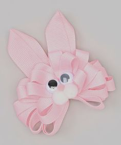 Loving this Pink Loop Rabbit Hair Bow on #zulily! #zulilyfinds