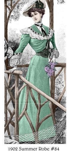 1902 day dress - Google Search