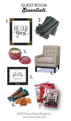 """7 Essentials for your guest room, plus a FREE printable """"The Wifi Password Is..."""" art print!"""